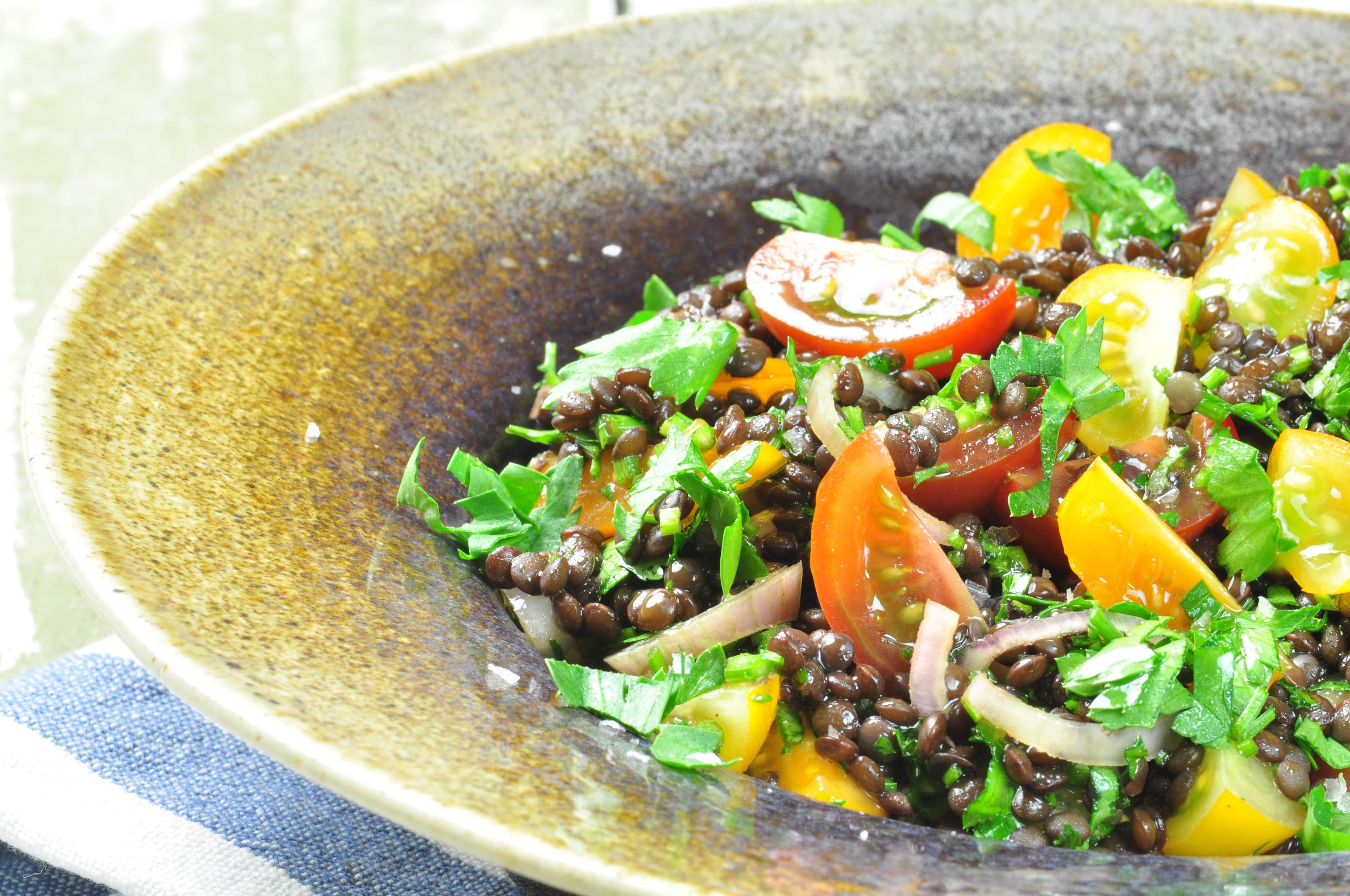 Crunchy Beluga Lentil Salad